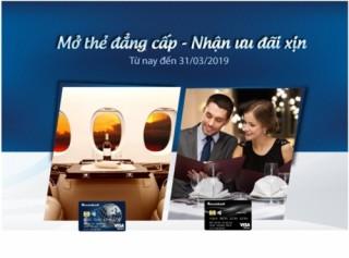 Đặc quyền ưu đãi khi mở thẻ tín dụng Sacombank Visa cao cấp