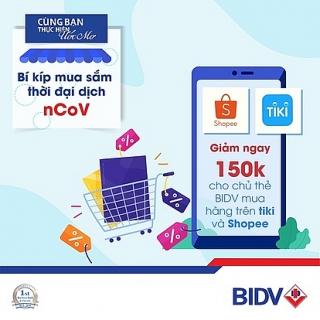 Giảm ngay 150.000 đồng cho chủ thẻ BIDV khi mua sắm tại Tiki