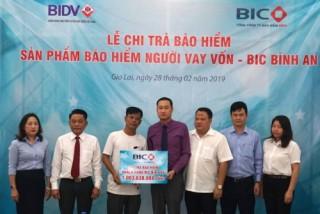 BIC chi trả bảo hiểm hơn 1 tỷ đồng cho khách hàng vay vốn tại Gia Lai