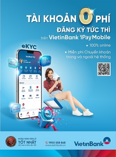 """VietinBank ra mắt 3 gói tài khoản thanh toán """"0 phí"""""""