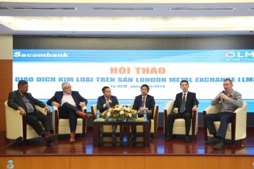 Sacombank giới thiệu giao dịch kim loại và bảo hiểm giá trên sàn LME