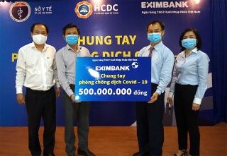 Tiếp sức cùng đơn vị tuyến đầu phòng chống dịch, Eximbank ủng hộ 500 triệu đồng