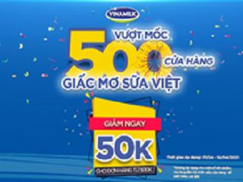 vuot moc 500 cua hang vinamilk gia tang trai nghiem mua sam cho nguoi tieu dung