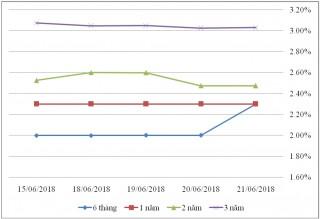 Thị trường TPCP ngày 21/6: Lãi suất giảm là chủ yếu