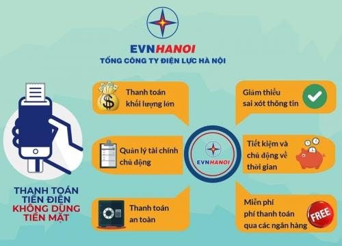 Hà Nội: Đẩy mạnh thanh toán tiền điện không dùng tiền mặt