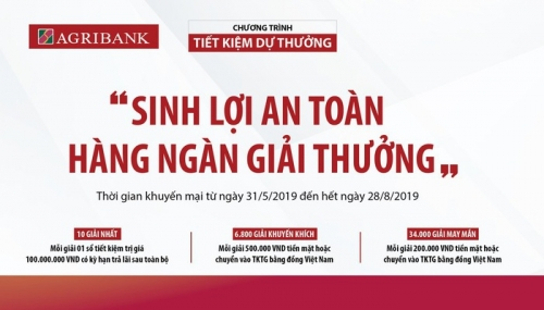 Cơ hội trúng lớn khi gửi tiền tại Agribank Đồng Nai