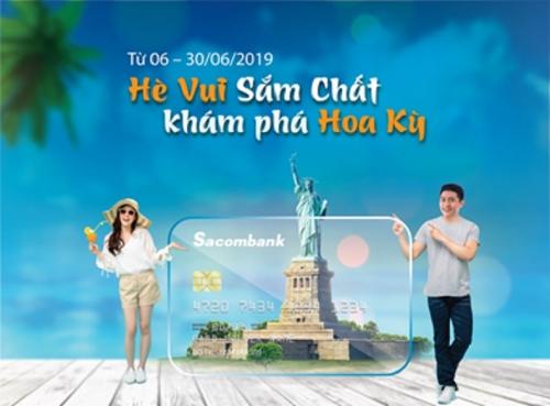 Sacombank tặng chuyến đi Mỹ cho khách hàng sử dụng thẻ quốc tế