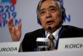 Thống đốc BOJ cảnh báo làn sóng thứ hai Covid-19 gây tổn hại đến tăng trưởng kinh tế