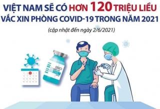 Việt Nam sẽ có gần 125 triệu liều vaccine COVID-19 trong năm 2021
