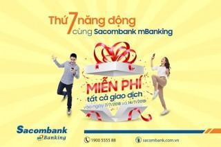 Thứ Bảy năng động với mBanking của Sacombank