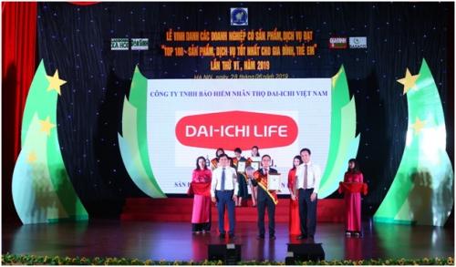 Dai-ichi Việt Nam lọt Top 100 sản phẩm dịch vụ tốt nhất