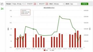 Thị trường niêm yết HNX tháng 6/2019: Giá trị giao dịch giảm 23,2%