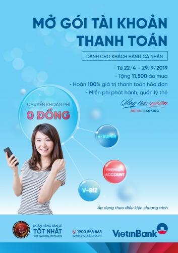 Tận hưởng ưu đãi ngập tràn với gói tài khoản thanh toán VietinBank