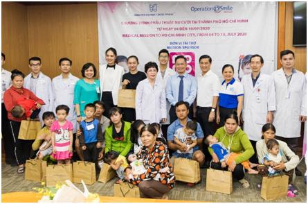80 em nhỏ dị tật hàm mặt được hỗ trợ phẫu thuật trong tháng 7