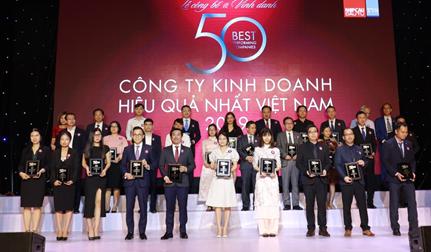 Vinamilk lần thứ chín lọt Top 50 Công ty kinh doanh hiệu quả nhất Việt Nam