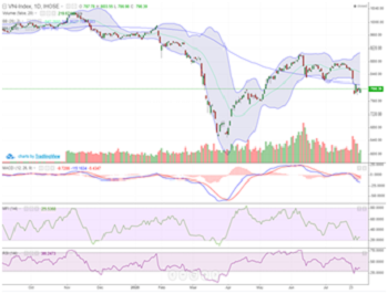 Lội ngược dòng trong phiên cuối tuần, VN-Index đóng cửa chỉ giảm gần 3 điểm