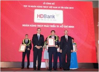 HDBank lọt Top 6 Ngân hàng  TMCP uy tín nhất 2019