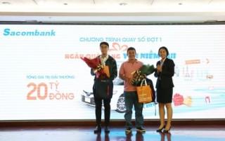 """Sacombank tìm ra chủ nhân trúng thưởng đợt 1 chương trình """"Ngàn quà tặng - Vạn niềm vui"""""""