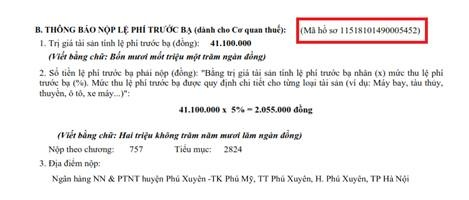 nop le phi truoc ba xe o to xe may nhu the nao tu 182020
