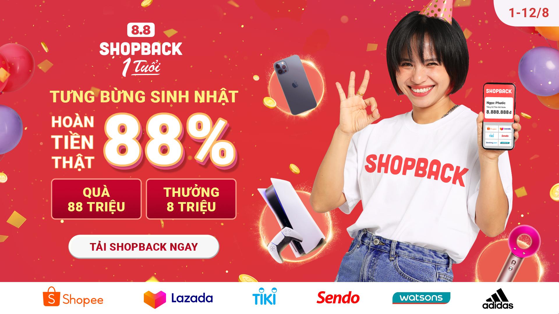 ShopBack kỷ niệm một năm có mặt tại Việt Nam