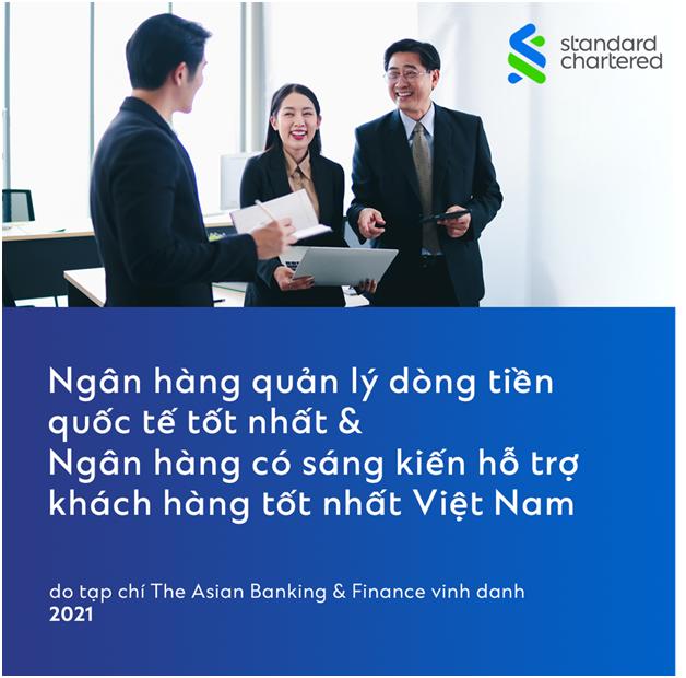 Standard Chartered Vietnam nhận hai giải thưởng của The Asian Banking & Finance