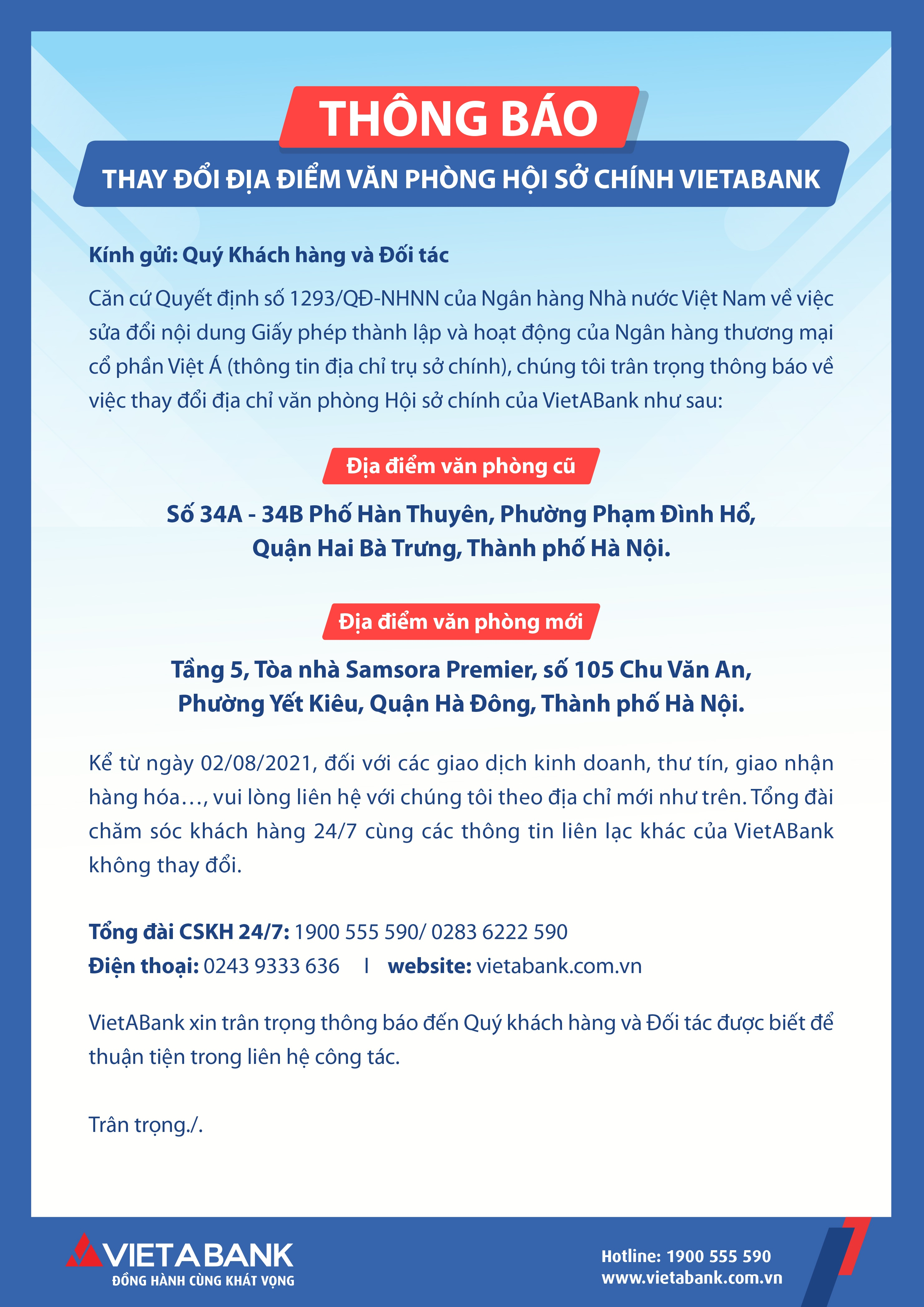 vietabank thay doi dia diem van phong hoi so chinh 117893