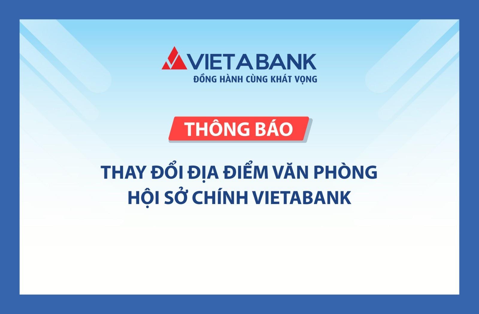 vietabank thay doi dia diem van phong hoi so chinh