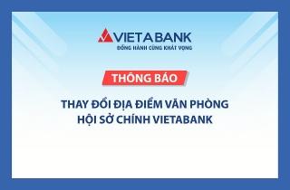 VietABank thay đổi địa điểm văn phòng hội sở chính