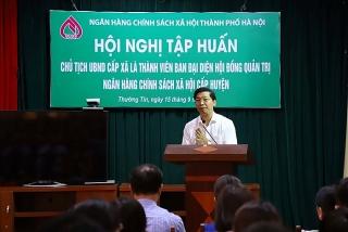 Tập huấn về tín dụng chính sách đối với cán bộ là Chủ tịch UBND các xã, phường, thị trấn
