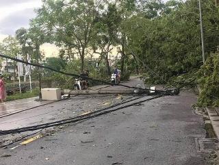 EVNCPC khẩn trương xử lý sự cố lưới điện do ảnh hưởng bão số 5
