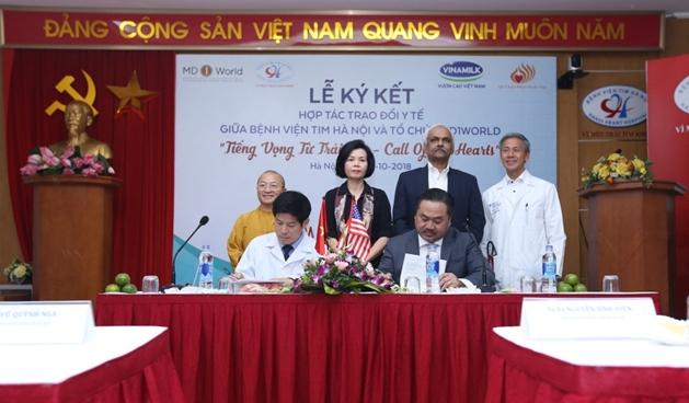 Bệnh viện tim Hà Nội và MD1World hợp tác trao đổi y tế