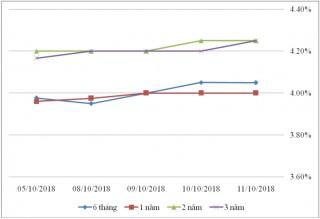 Thị trường TPCP ngày 11/10: Lãi suất thực hiện tăng ở nhiều kỳ hạn ngắn