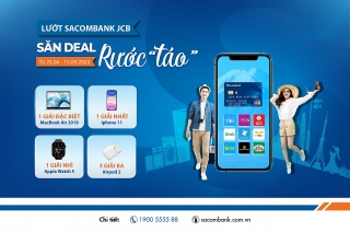 """6 chủ thẻ trúng thưởng chương trình lướt Sacombank JCB, săn deal, rước """"táo"""""""