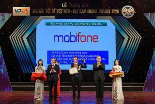 MobiFone đón nhận Giải thưởng Chuyển đổi số