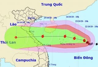 Bão giật cấp 14, hướng vào miền Trung, sóng cao 6-8m, biển động dữ dội