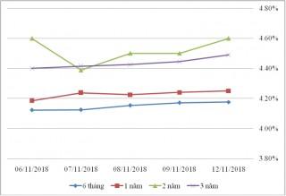 Thị trường TPCP ngày 12/11: Lãi suất thực hiện biến động không lớn