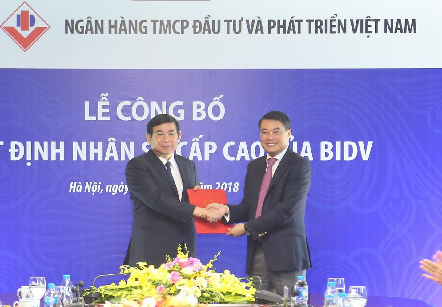 Công bố quyết định bổ nhiệm Chủ tịch Hội đồng quản trị BIDV