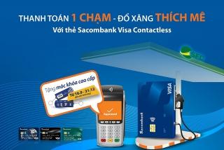 Sacombank thí điểm thanh toán chạm tại trạm xăng SFC