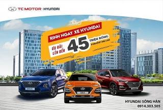 Mua xe Hyundai được ưu đãi lên đến 45 triệu đồng