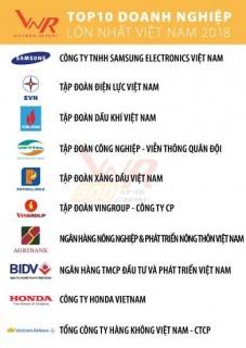 Công bố xếp hạng VNR500: Vingroup vào Top 10 doanh nghiệp lớn nhất