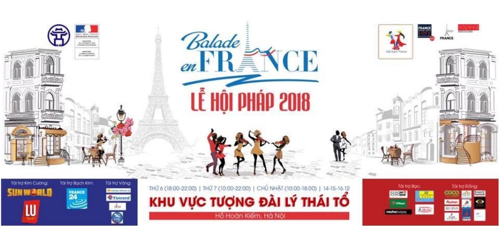 Lễ hội Pháp 2018 sẽ diễn ra tại Hà Nội