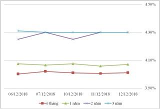 Thị trường TPCP ngày 12/12: Lãi suất thực hiện nhiều kỳ hạn dài giảm