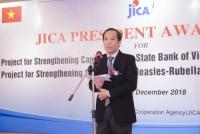 Dự án tăng cường năng lực sản xuất mực in tiền nhận giải thưởng của Chủ tịch JICA