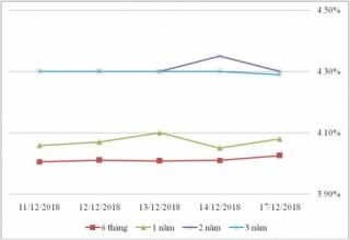 Thị trường TPCP ngày 17/12: Lãi suất thực hiện biến động nhẹ