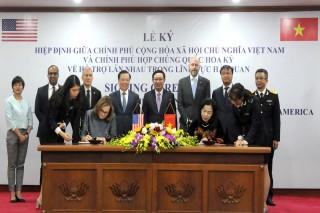 Việt Nam và Hoa Kỳ ký hiệp định hỗ trợ nhau trong lĩnh vực hải quan