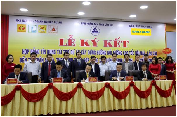 Nam A Bank cấp tín dụng cho dự án đường nốicao tốc Nội Bài – Lào Cai lên Sa Pa