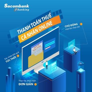 Đóng thuế qua Sacombank internet banking