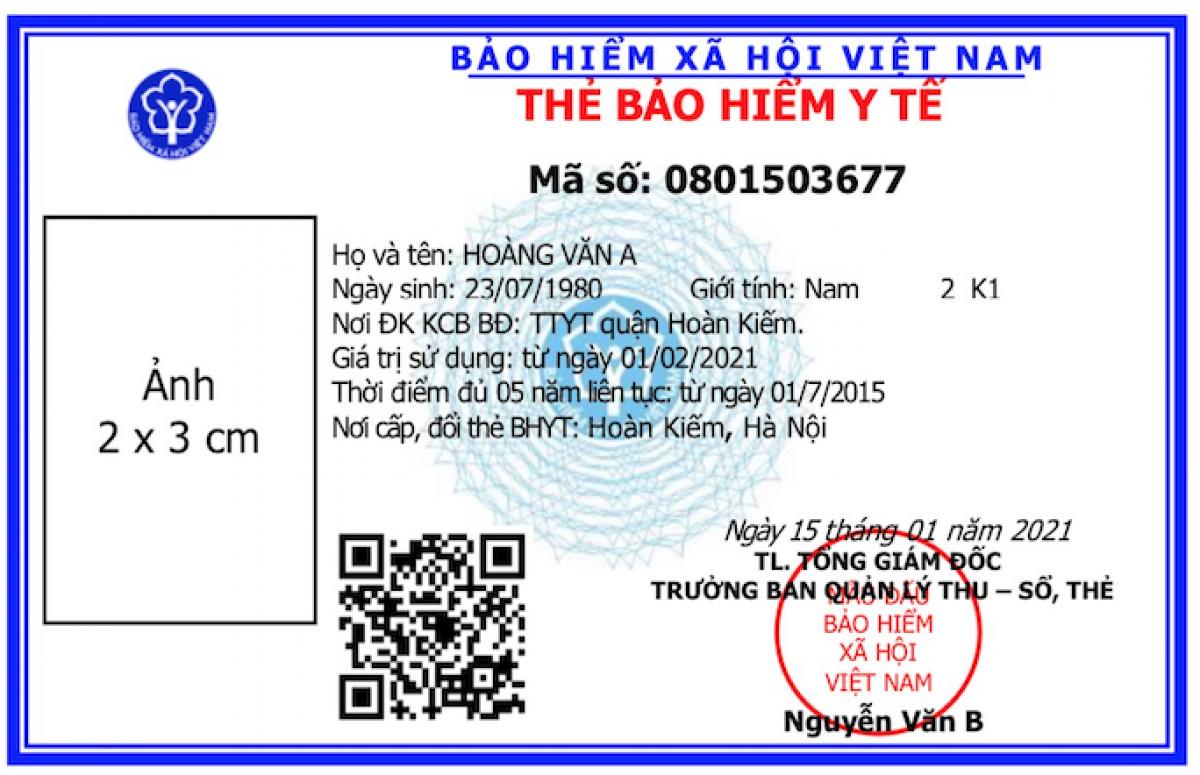 ban hanh mau the bao hiem y te moi su dung tren toan quoc tu 142021