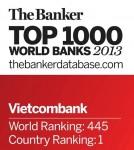 Vietcombank 6 năm liên tiếp nhận giải thưởng của tạp chí Trade Finance