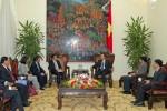 Phó Thủ tướng Vũ Văn Ninh và lãnh đạo NHNN tiếp khách quốc tế
